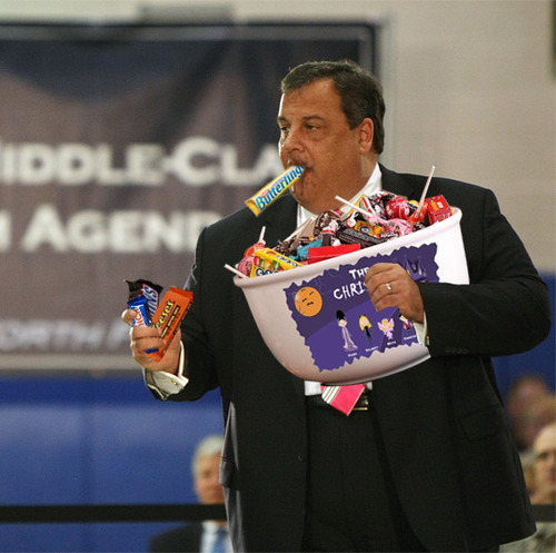 Christie eating halloween candy