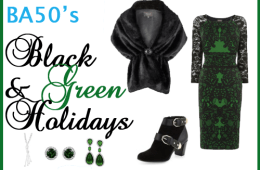 black and green for the holidays
