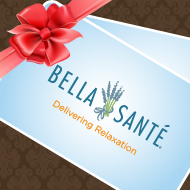 A gift card from Bella Sante in Wellesley for a spa treatment or service