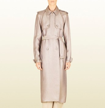Gucci silk and viscose trench