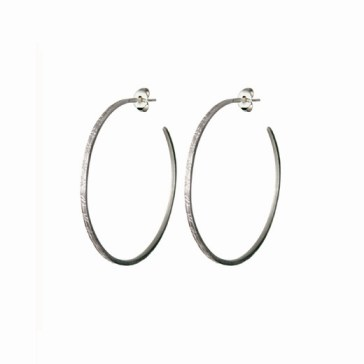 Sterling silver hand etched hoops available at Quadrum