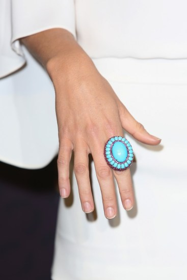 Awesome Turquoise ring spotted on some random celebrity at some Hamptons type event