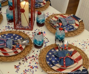 patriotic table settings for the fourth