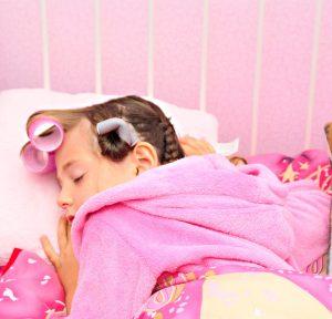 sleeping in curlers