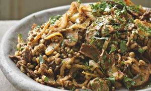 Barley and Mushroom autumnal side dish