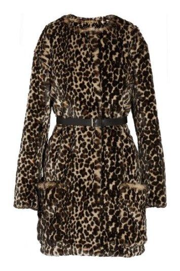 NINA RICCI Leopard-print faux fur coat $1,735