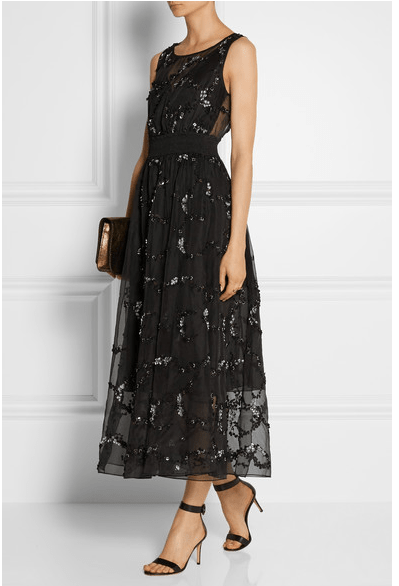 THEORY Darro embellished silk-organza midi dress $2,295 at netaporter.com