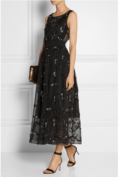 THEORY Darro embellished silk-organza midi dress $2,295 at netaporter.com