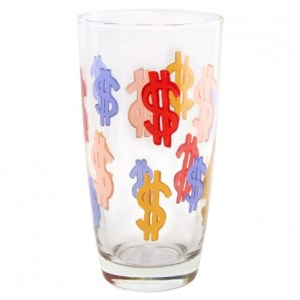 dollar sign glass Amy Sedaris
