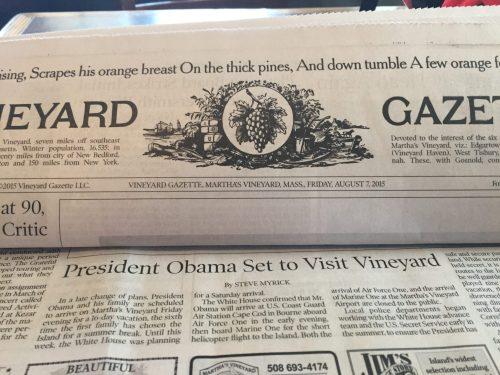 vineyard gazette