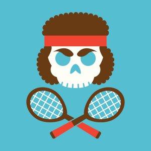 crazy tennis lady