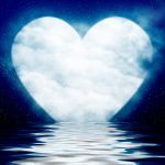 heart moon over water