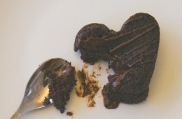 Broken chocolate heart cake