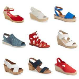 red white blue sandals