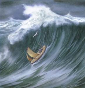 wave-swamping-boat