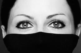 woman in black turtleneck