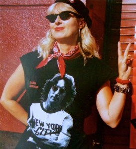 """The author in Los Angeles, 8 years ago, in her """"rebellious"""" gear - which should involve a beret!"""