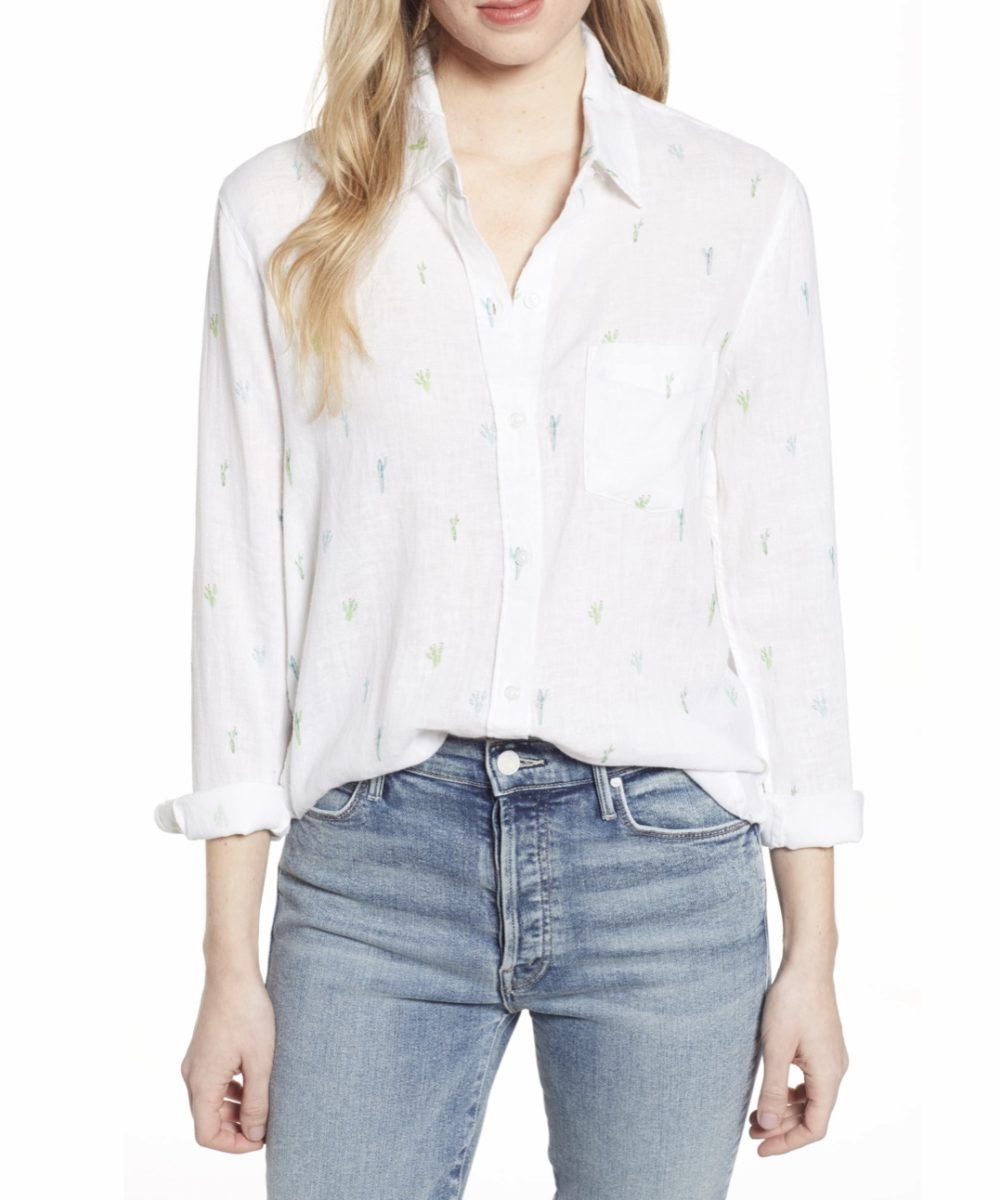 Crisp White Blouses For The Warm Weather