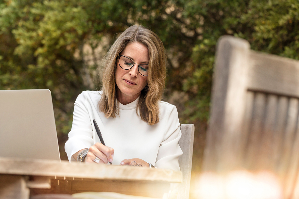 Woman travel writing