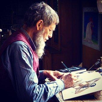 Man drawing