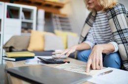 Woman doing finances after divorce