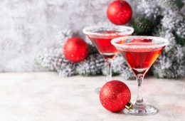 Christmas festive cocktail red martini