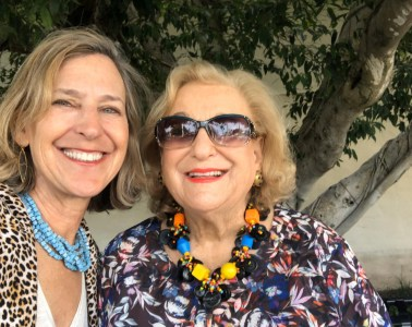 With Mom at The Society of The Four Arts in Her beloved Florida last year