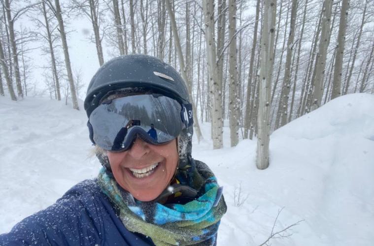 Felice Shapiro Skiing