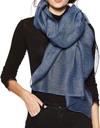 100% Pure Linen Scarf Women's Wrap Melange Shawl Scarf