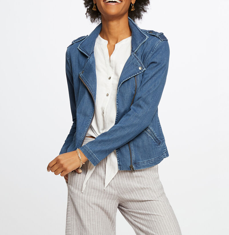 Nic + Zoe Denim Biker Jacket-$132