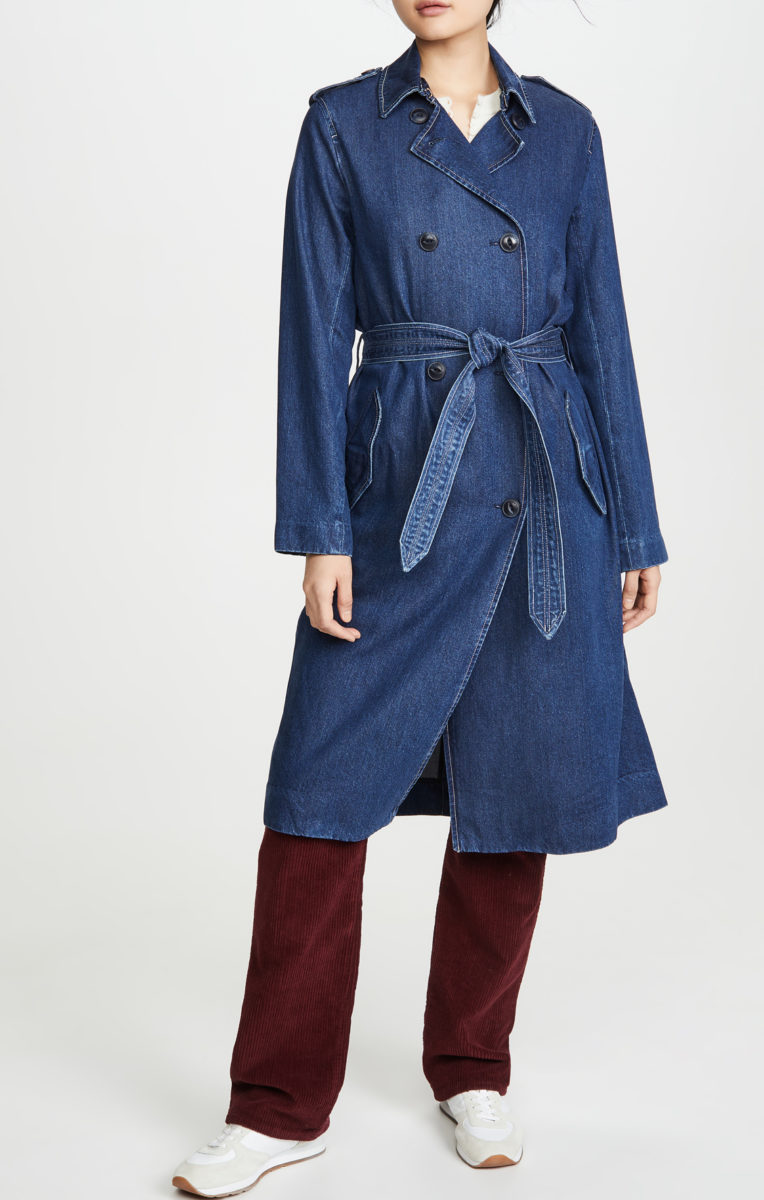 Shopbop Rag and Bone Tailored Denim Trench Coat on sale $247.5