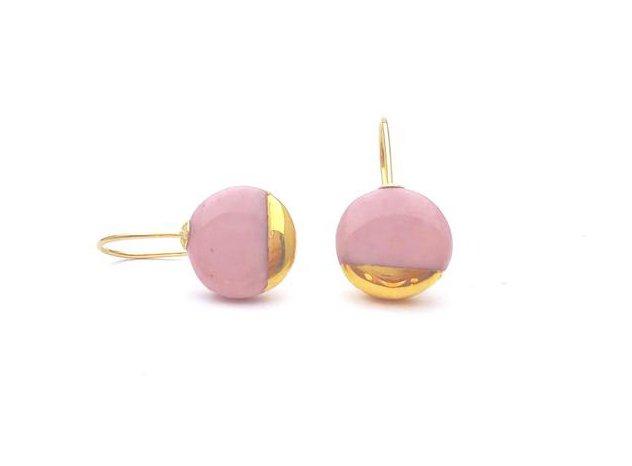 Classic Rose porcelain earrings