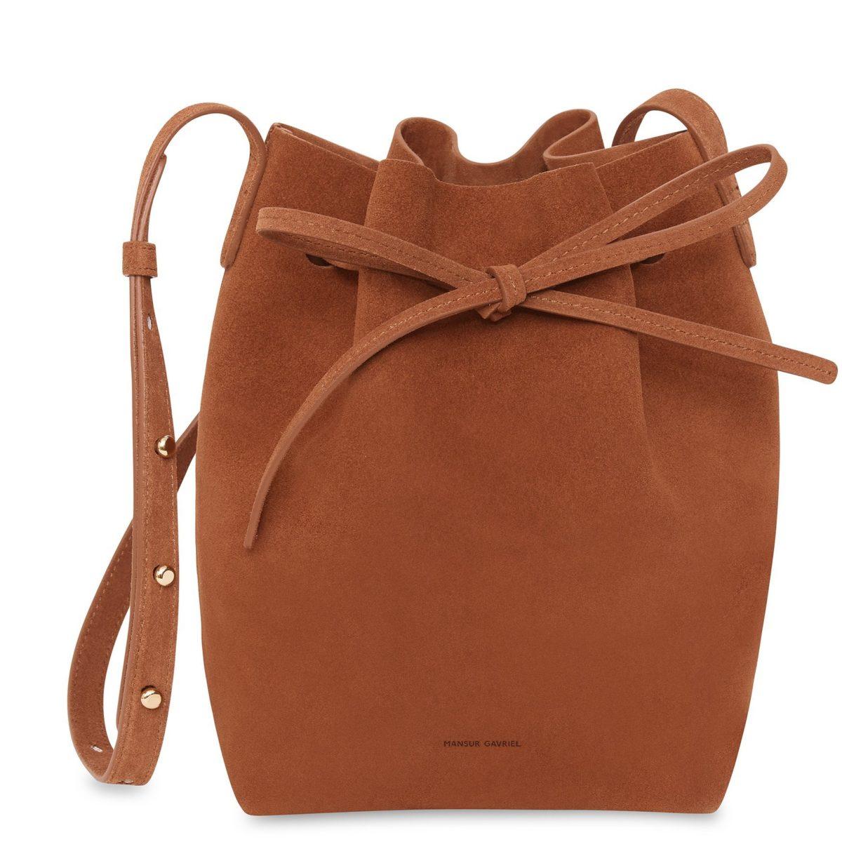 Suede Mini Bucket Bag