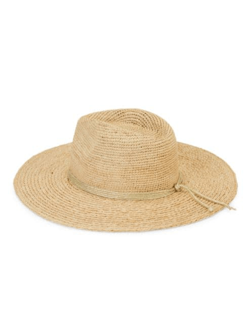 Essential Continental Metallic-Trim Raffia Panama Hat