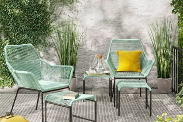 Sunmor 5pc Patio Chat Set