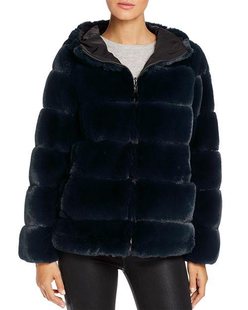 via spiga faux fur coat