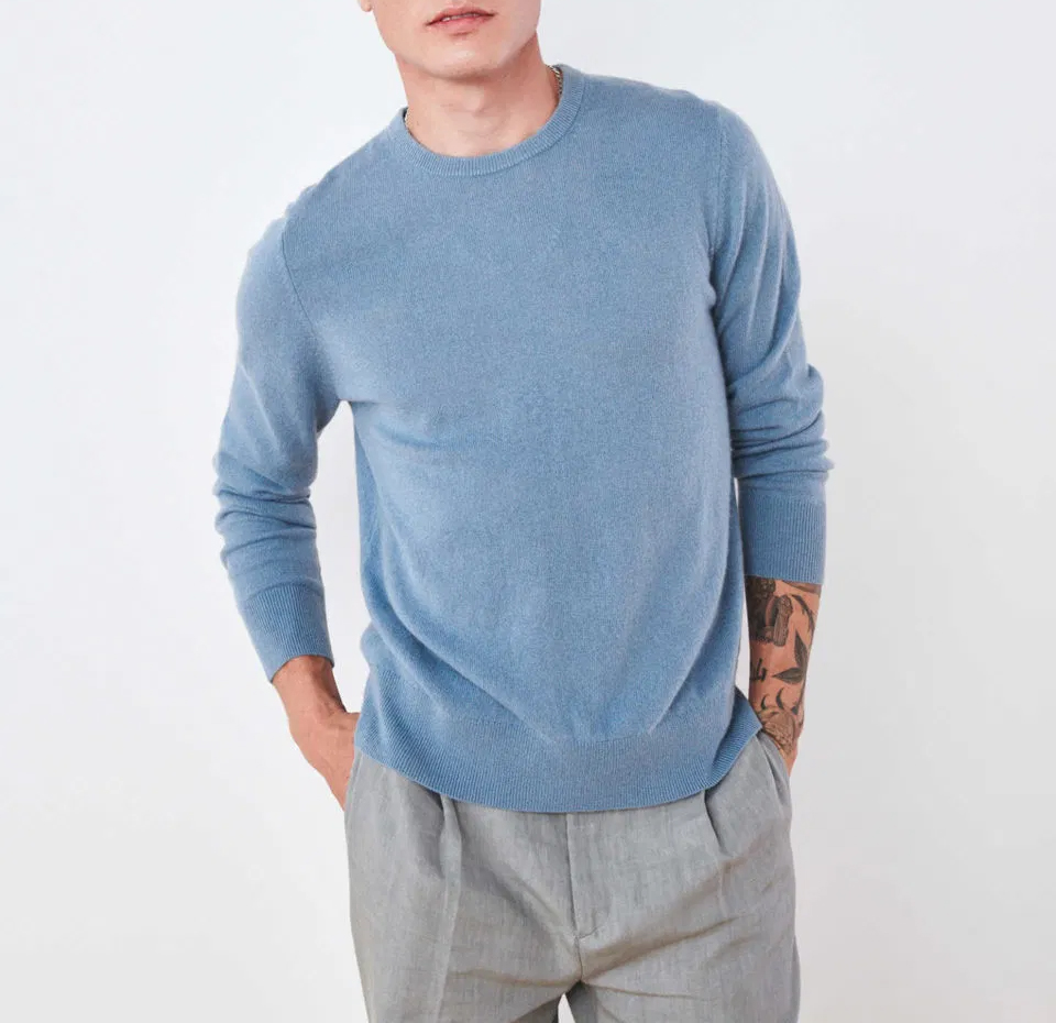 Blue men's sweater