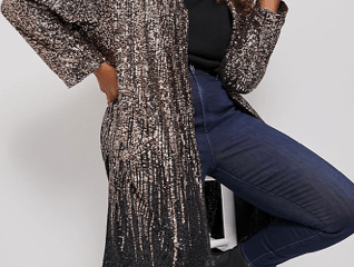 Dulcinea Sequined Duster Jacket $110.60