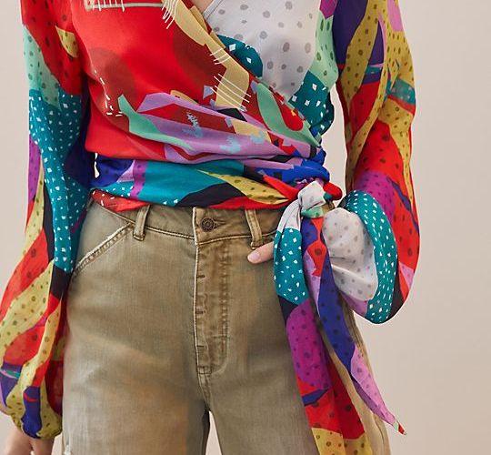 Sleek Wrap Blouse $110