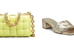 Gold purse and sandal