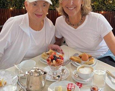 Breakfast Paris style with my Auntie Dina