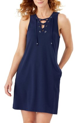 Lace-Up Cover-up Dress $135