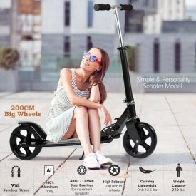 OppsDecor Adult Scooter with 3 Seconds Easy-Folding System