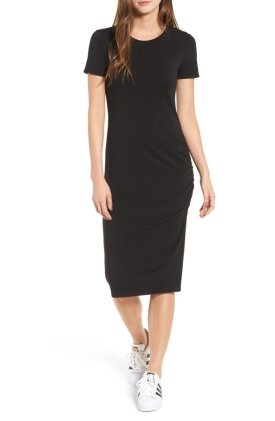 Side Ruched Body Con Dress