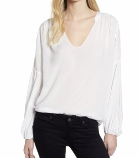 Velvet By Graham Spencer V Neck Blouse