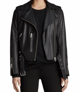 AllSaints Balfern Leather Biker Jacket $373.50