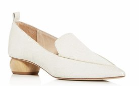 Jeffrey Campbelll Embossed Pointed Apron Toe Loafers $140.00