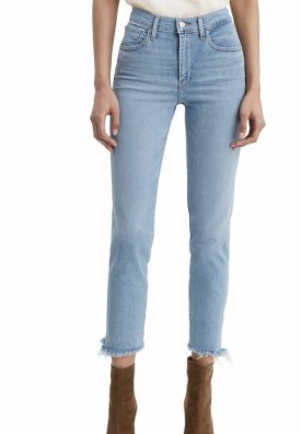 Levis 724 High Waist Fray Crop Straight Leg Jeans $98.00