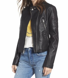 Levis Faux Leather Moto Jacket $98.00