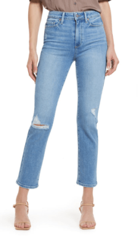 Cindy Ripped Straight Leg Jeans $149.90